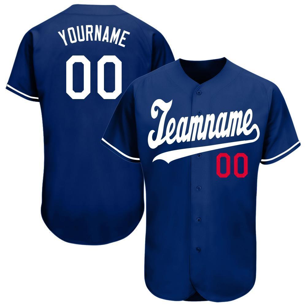 Custom Royal White-Red Baseball Jersey Shirt for team
