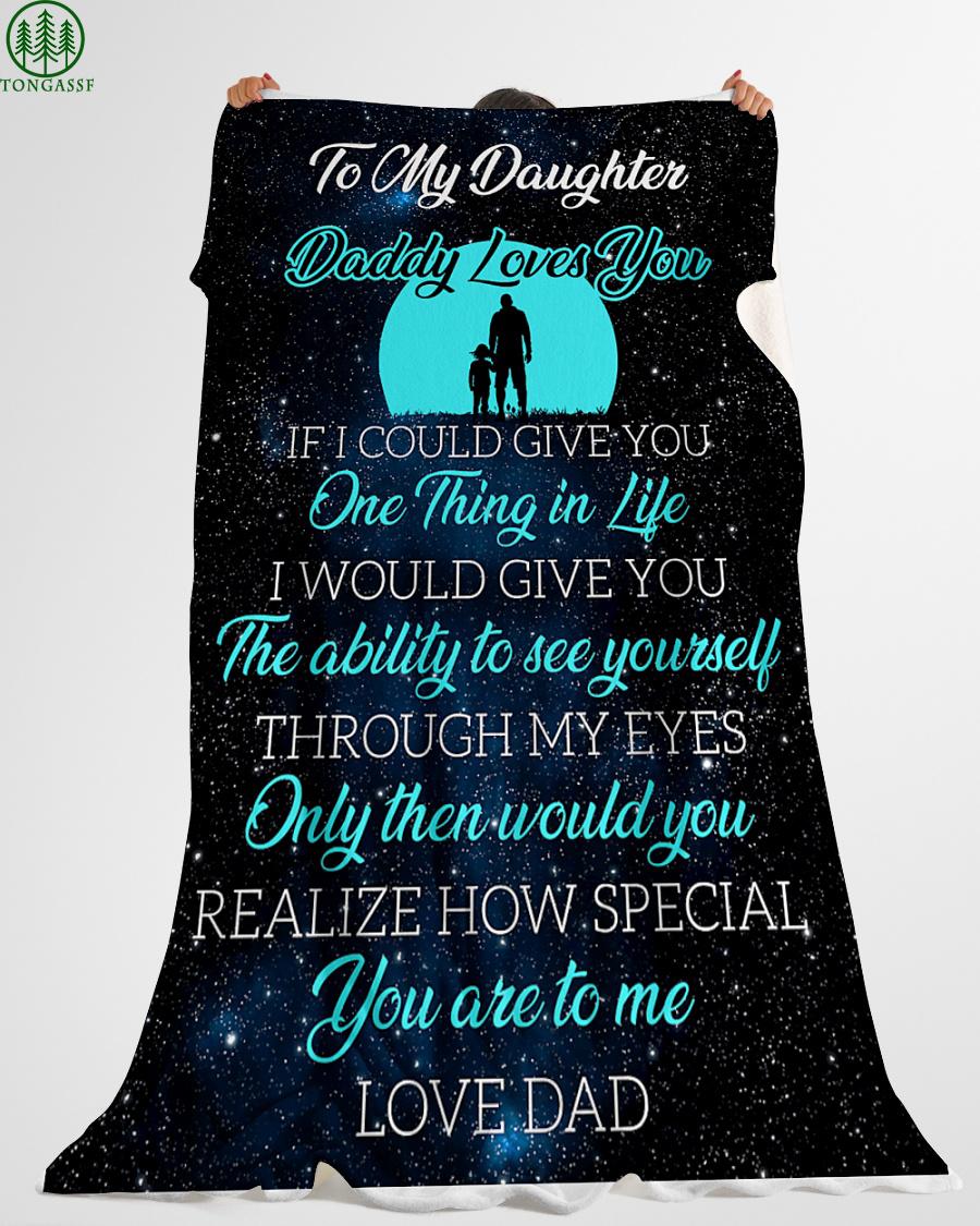 love daughter stars in night sky fleece blanket