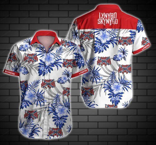 Lynyrd Skynyrd US Rock Band White Hawaiian Shirt