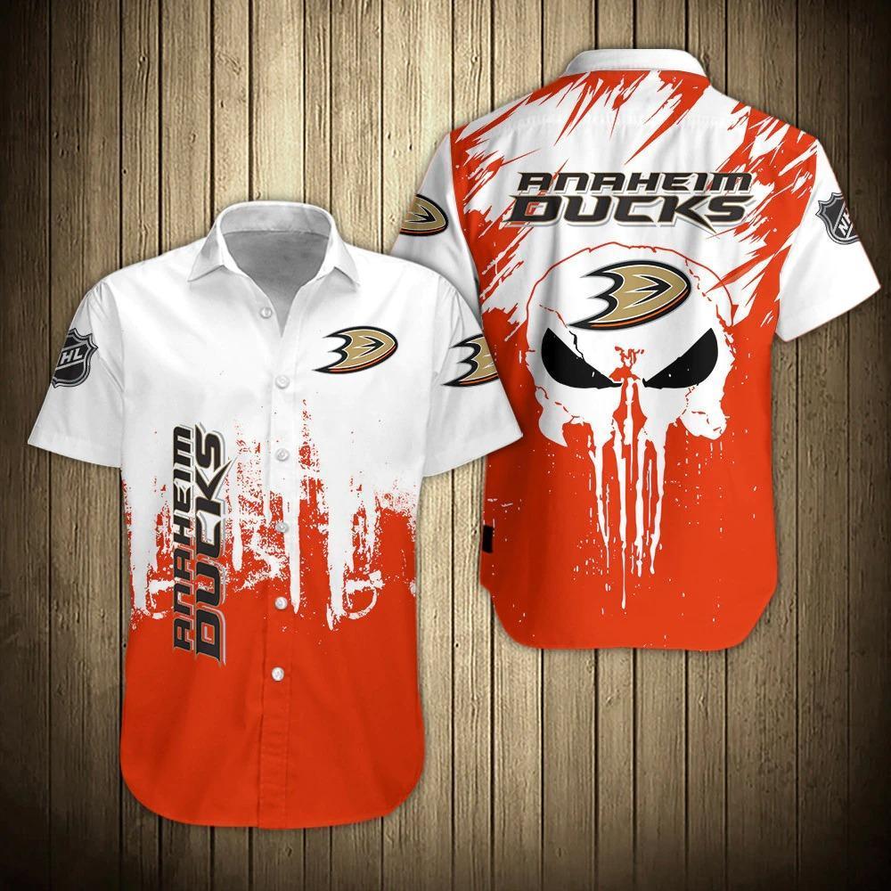 NHL Anaheim Ducks Skull Hawaiian Shirt Summer Shirt