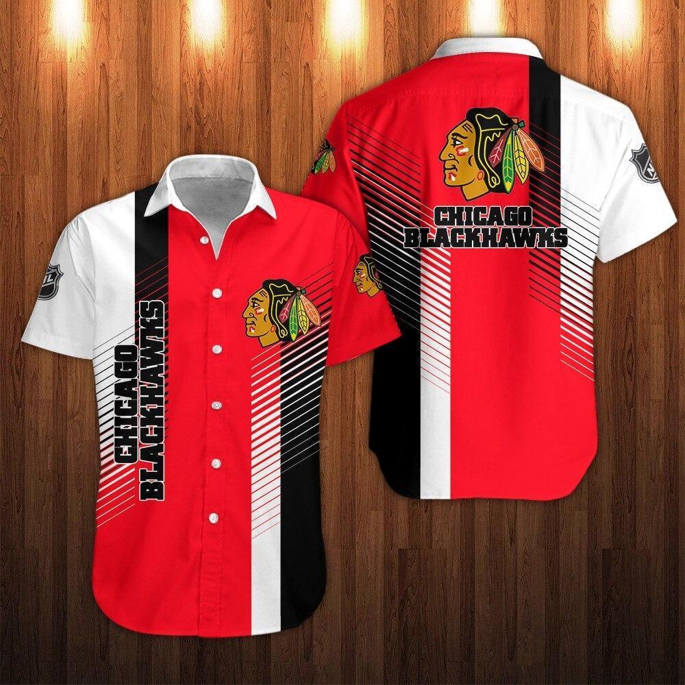 NHL Chicago Blackhawks Short Sleeve Hawaiian Shirts