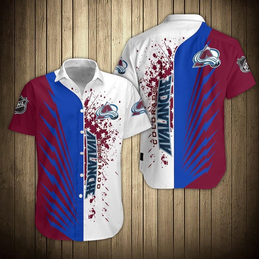 NHL Colorado Avalanche Shirts Button Up Hawaiian Shirts