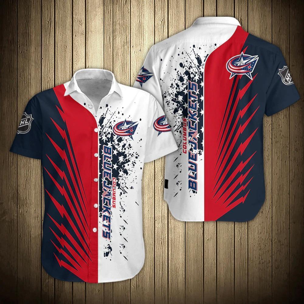 NHL Columbus Blue Jackets Hawaiian Summer Shirt