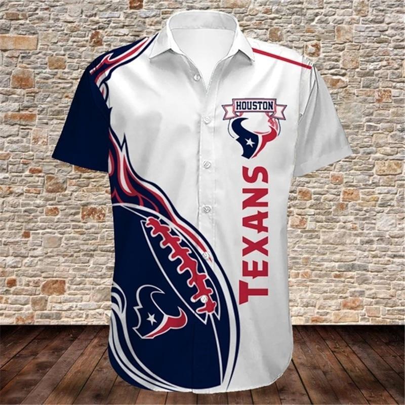 Houston Texans Hawaiian Shirts Fireball