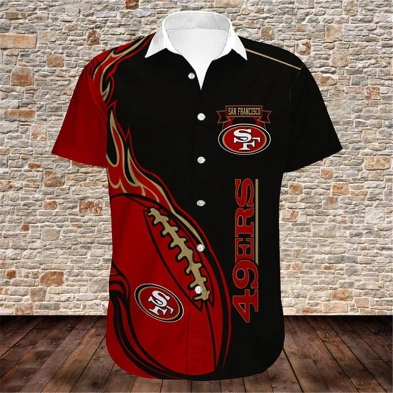 San Francisco 49ers Hawaiian Shirts