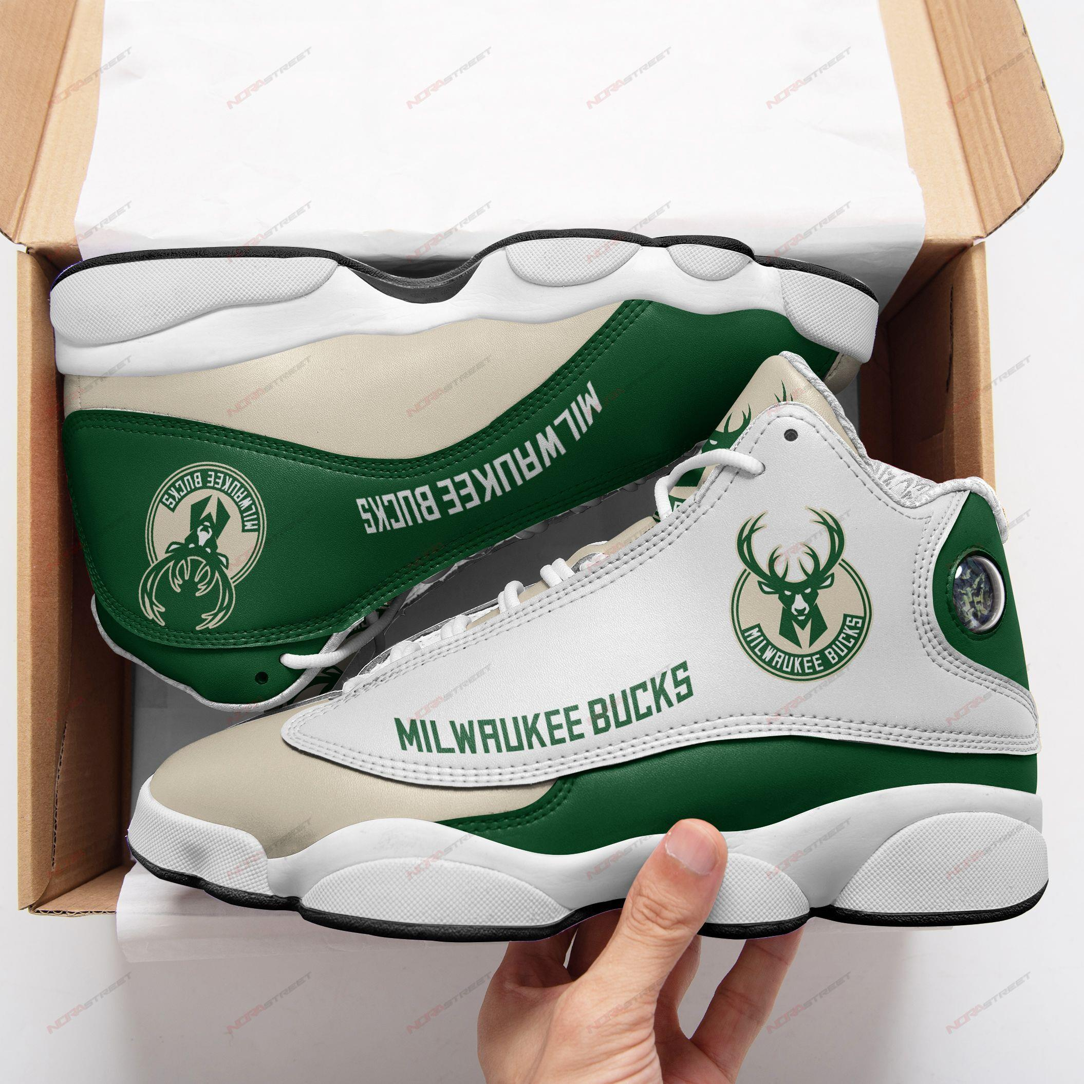 Milwaukee Bucks Air Jordan 13 Sneakers Sport Shoes