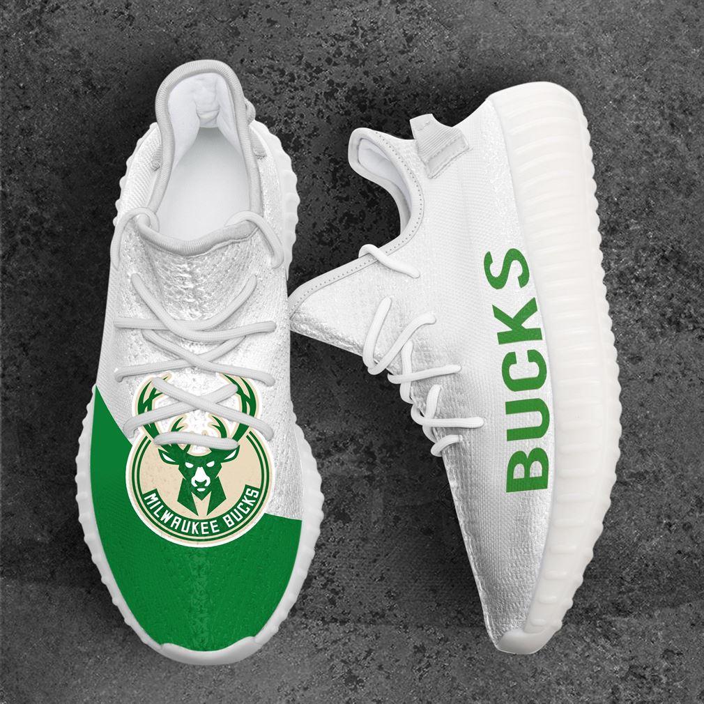 Milwaukee Bucks MLB Sport Teams Yeezy Sneakers Shoes White