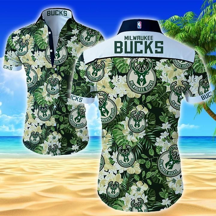 Milwaukee Bucks Hawaiian Shirt Summer Button Up
