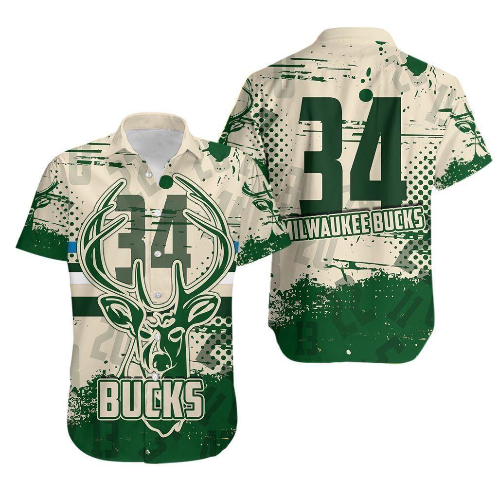 Custom Milwaukee Bucks 34th Hawaiian Shirt