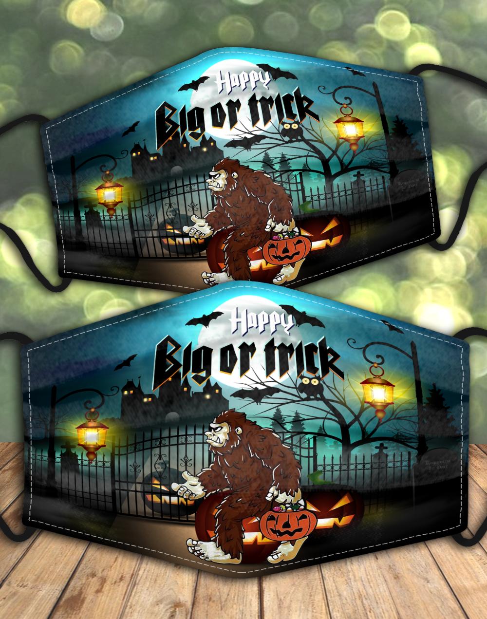 Happy Halloween BigFoot AOP face mask