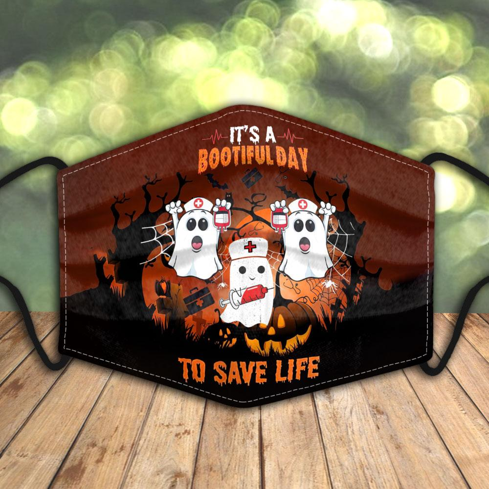 Ghost Blood Bootifulday to save life Halloween 3D face mask
