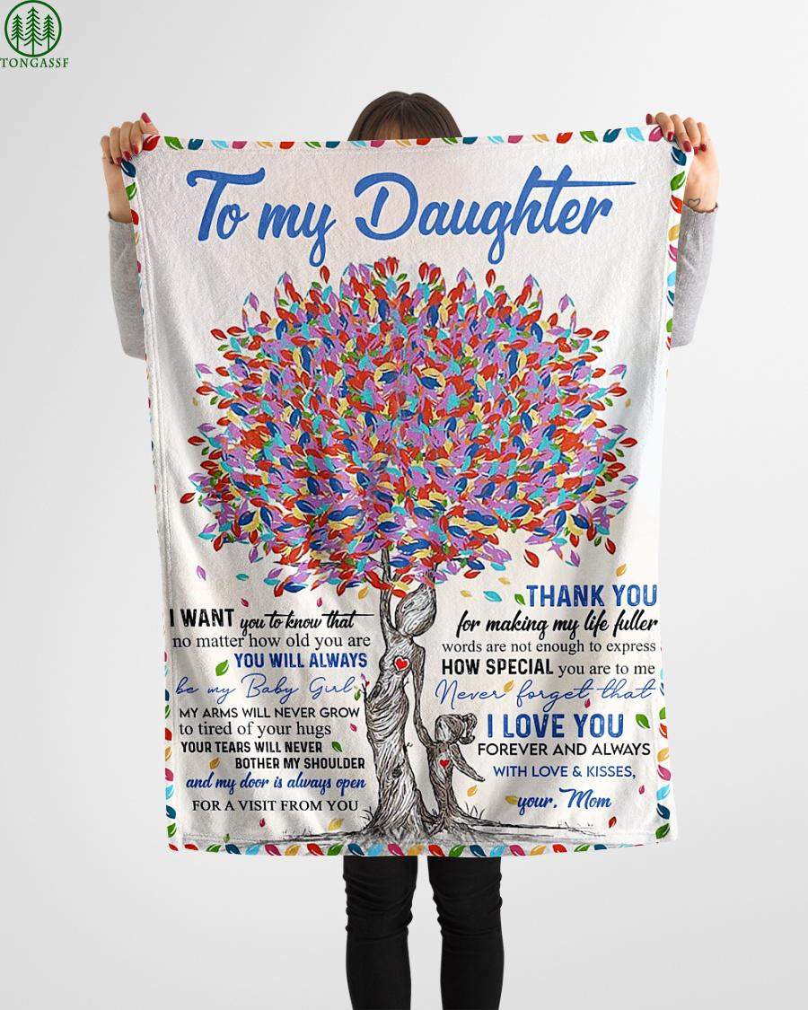 mom like colorful tree loving daughter blanket