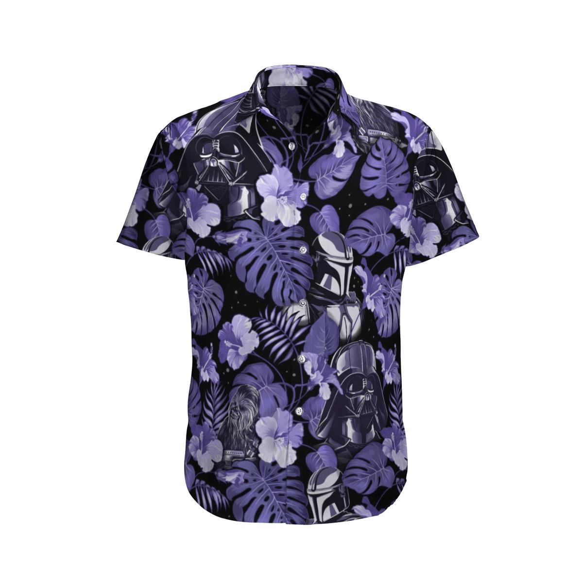 Star wars Vader Floral Purple Hawaiian Shirt
