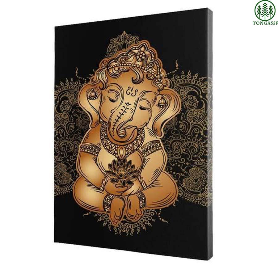 Baby Ganesh Hindu God Wall Printed Canvas