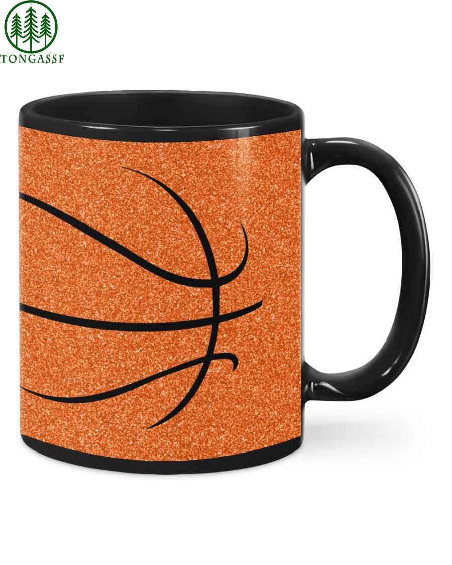 Orange Full Printed Basketball Mug