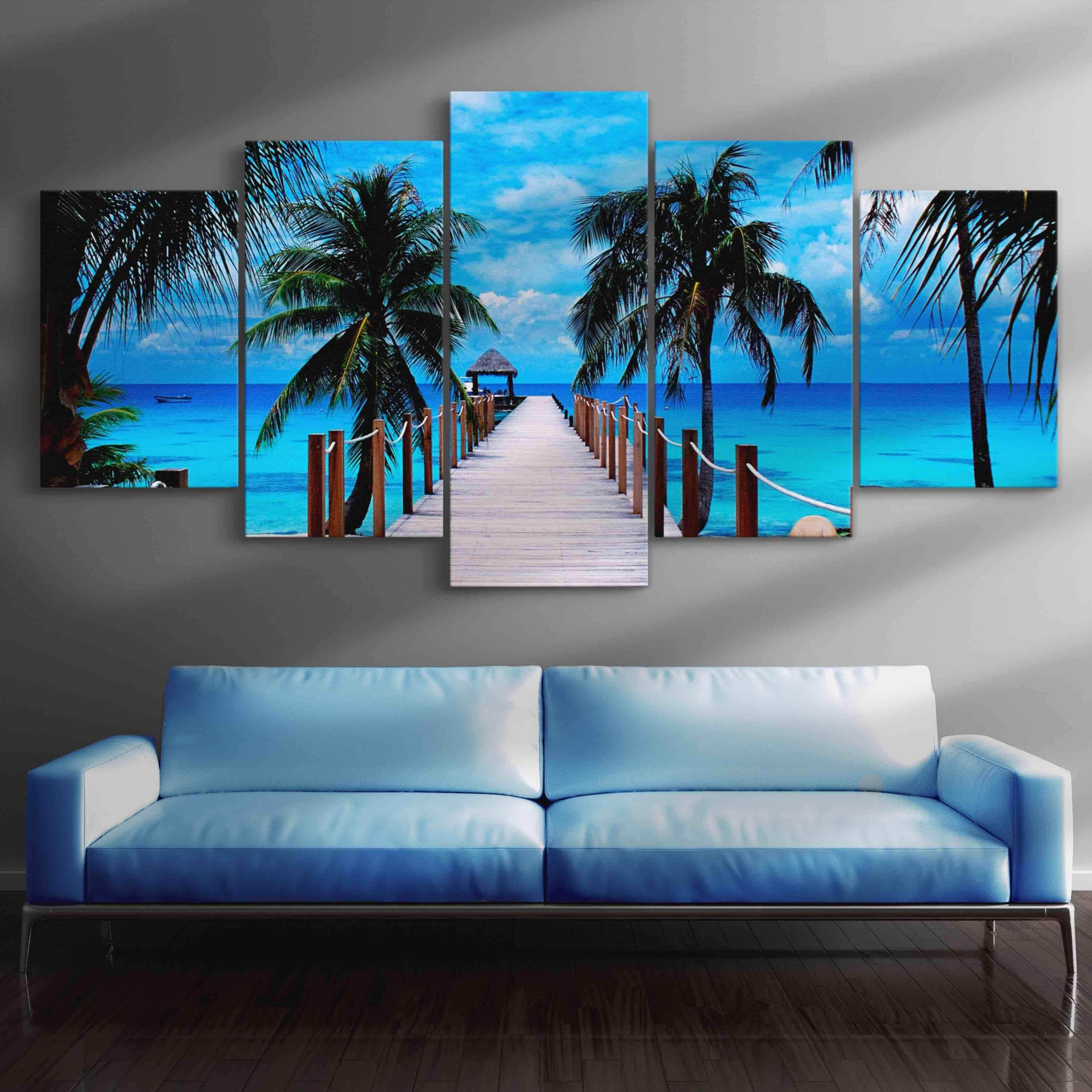 Perfect Vacation 5 panel wall art canvas