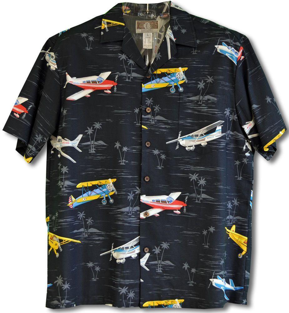 Piper Club Stearman Cessna Beechcraft Airplane Haiwaiian Shirt