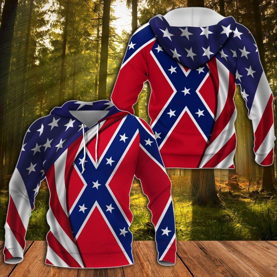 Southern Rebel Flag Hoodie 3D