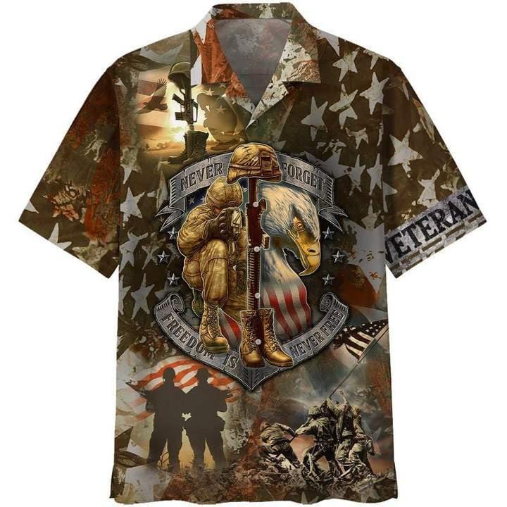 US Veteran Freedom Is Not Free Hawaiian Shirt