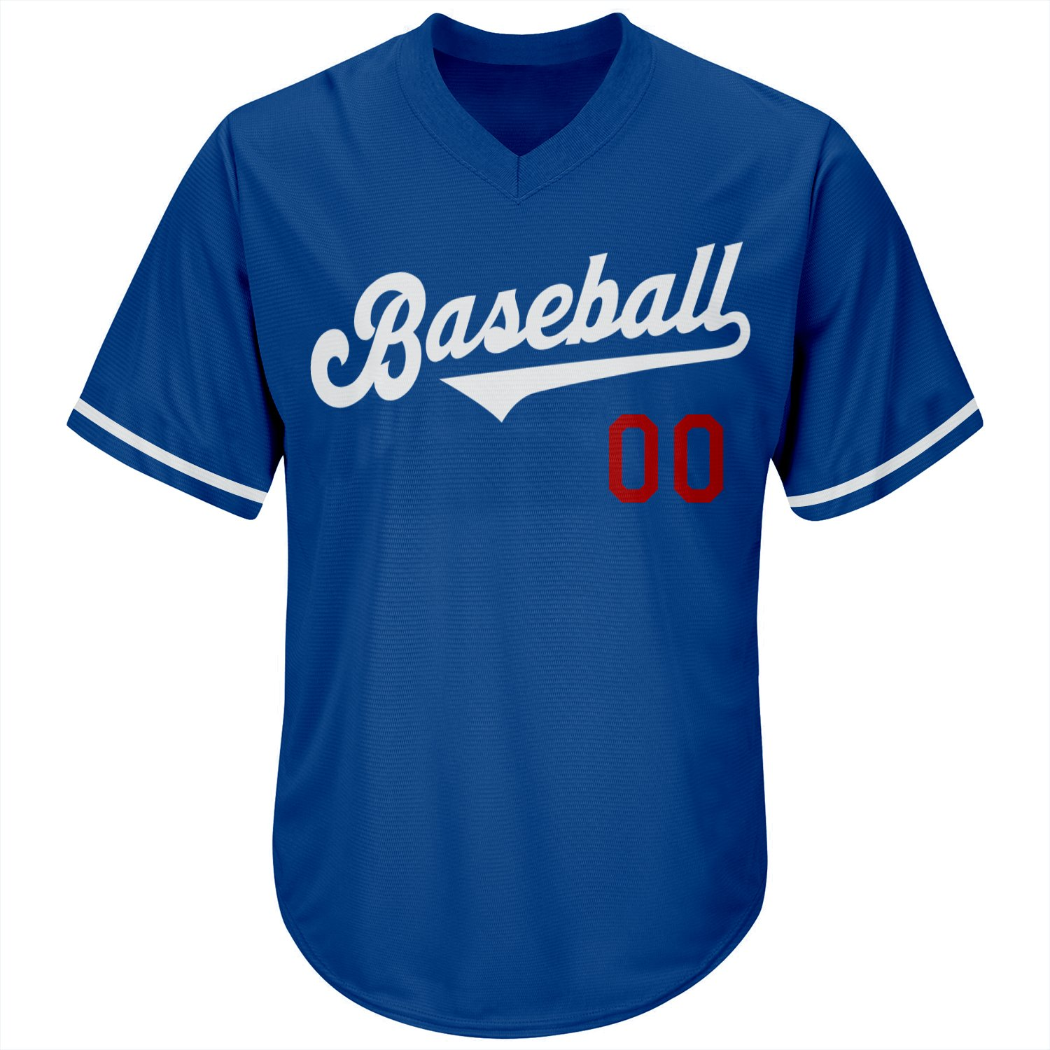 Personalized Royal White-Red Authentic Throwback Rib-Knit Baseball Jersey Shirt