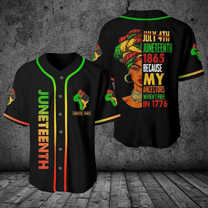 Juneteenth Since 1865 Baseball Jersey Shirt