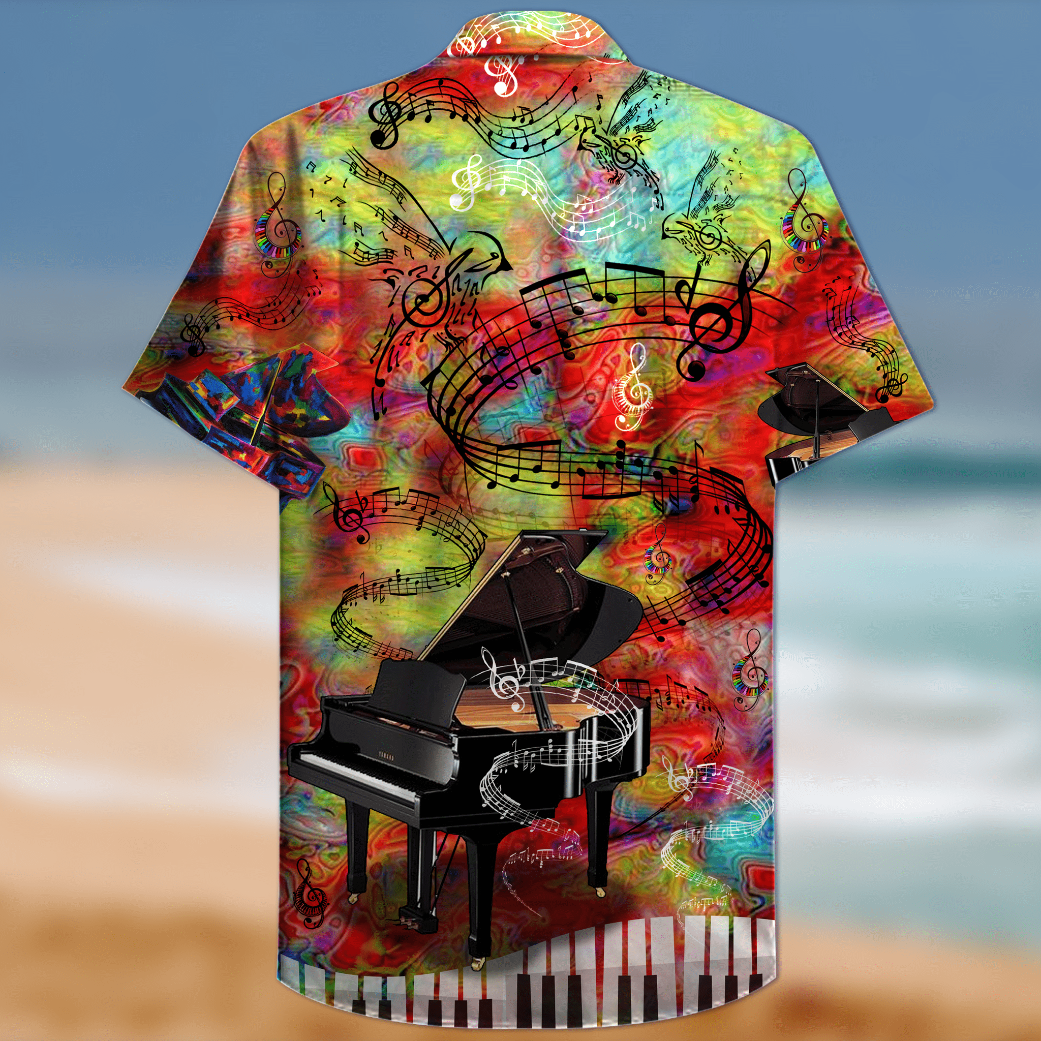Piano Let The Music Guide You To The World Hawaiian Summer Shirt