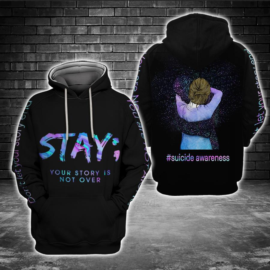 Suicide Prevention Awareness Full Print : Stay Your Story is not over