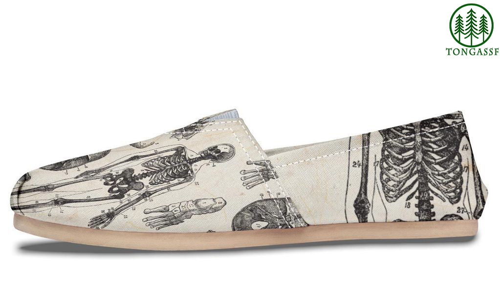 Skeleton anatomy casual shoes