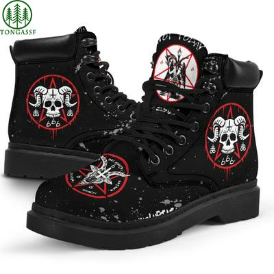 Skull with horns hail the pleasure Boots