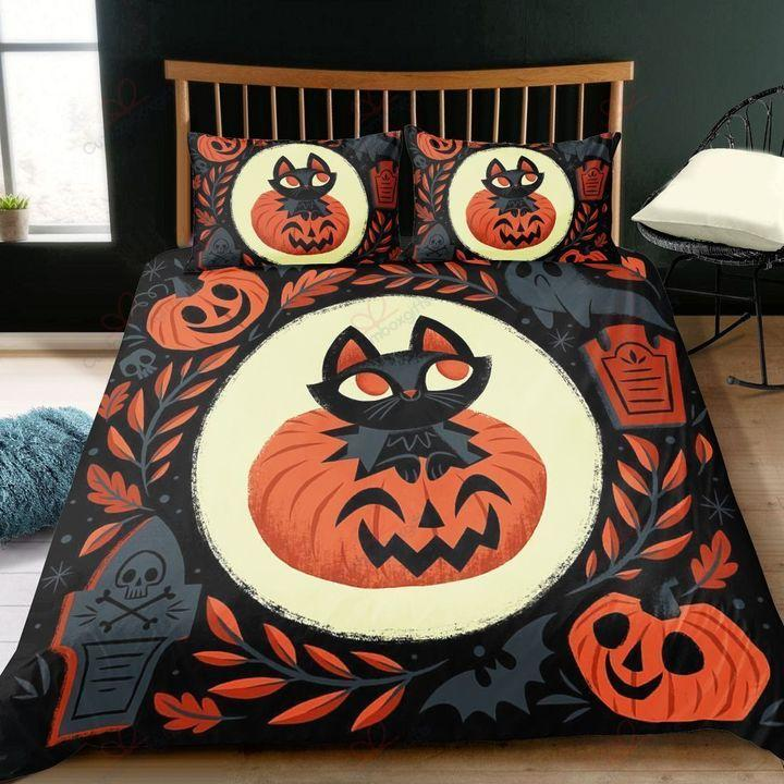 Black Cat Halloween PEA00251S Bedding Set