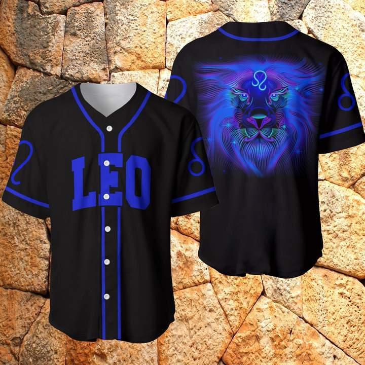 Amazing Zodiac Mystery Leo Navy Baseball Jersey Shirt