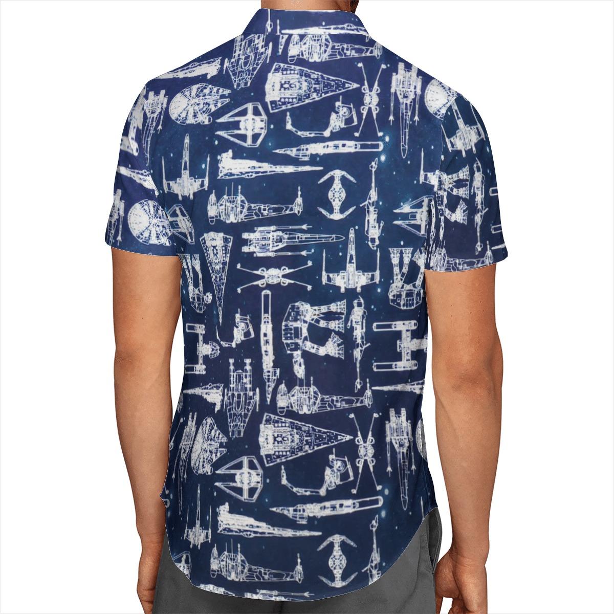 star wars starships hawaiian shirt