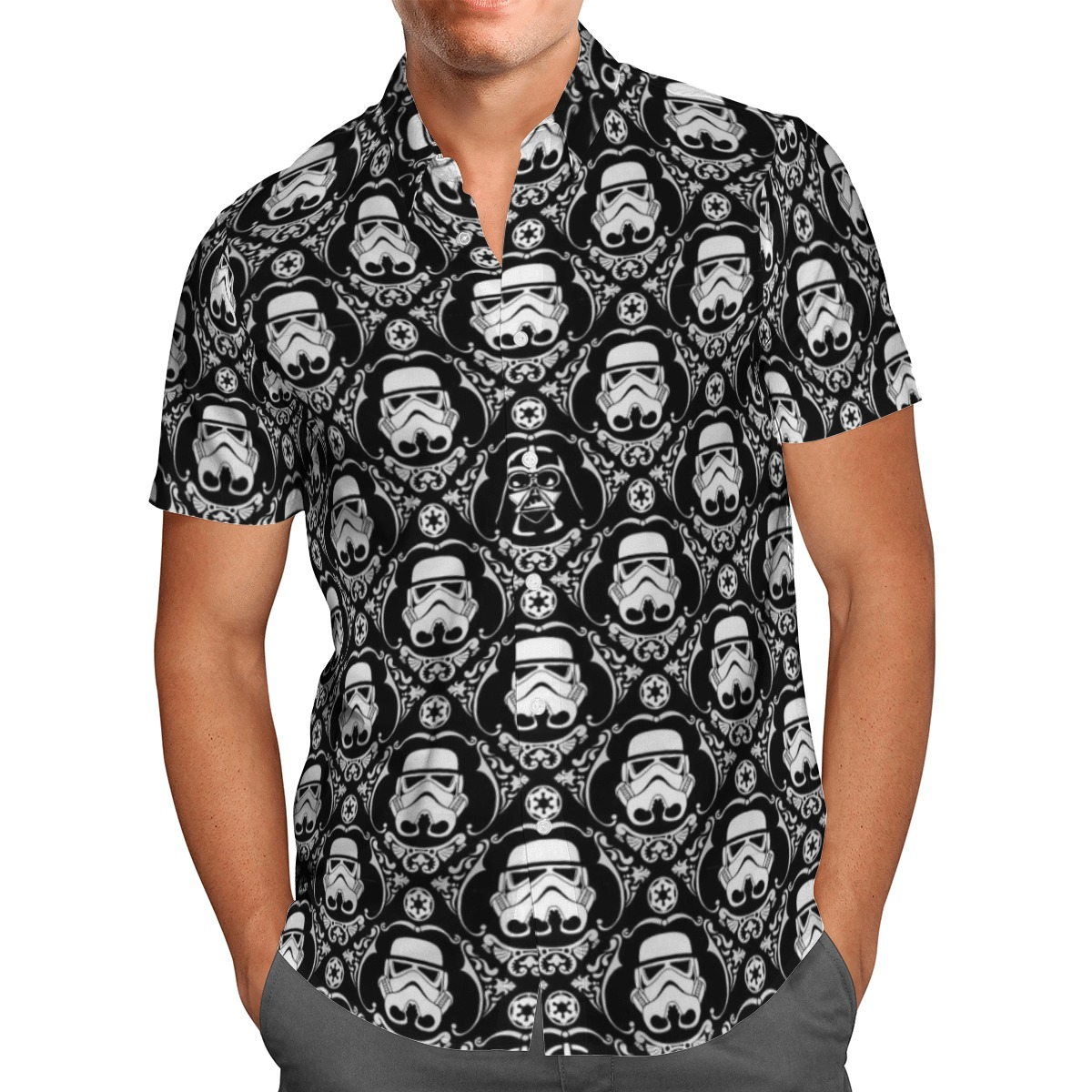 Star Wars Stormtrooper Portrait Hawaiian shirt