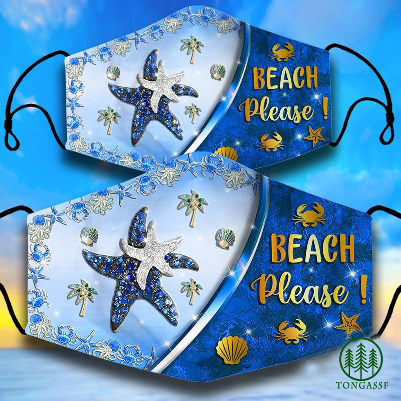Starfish Beach please Face Mask