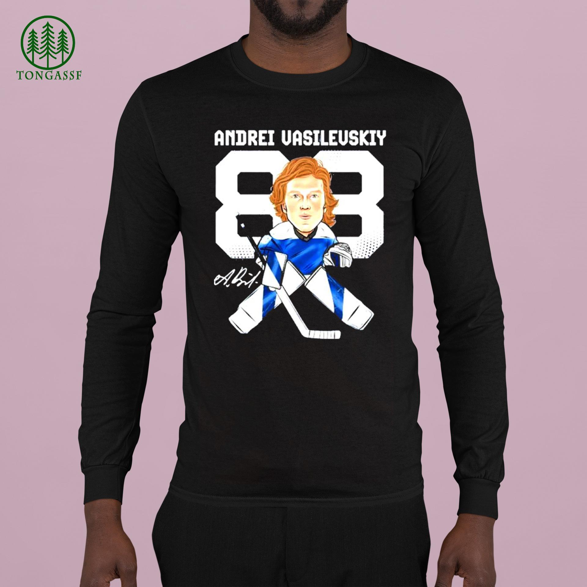 tampa bay lightning 88 andrei vasilevskiy cartoon signature Shirt