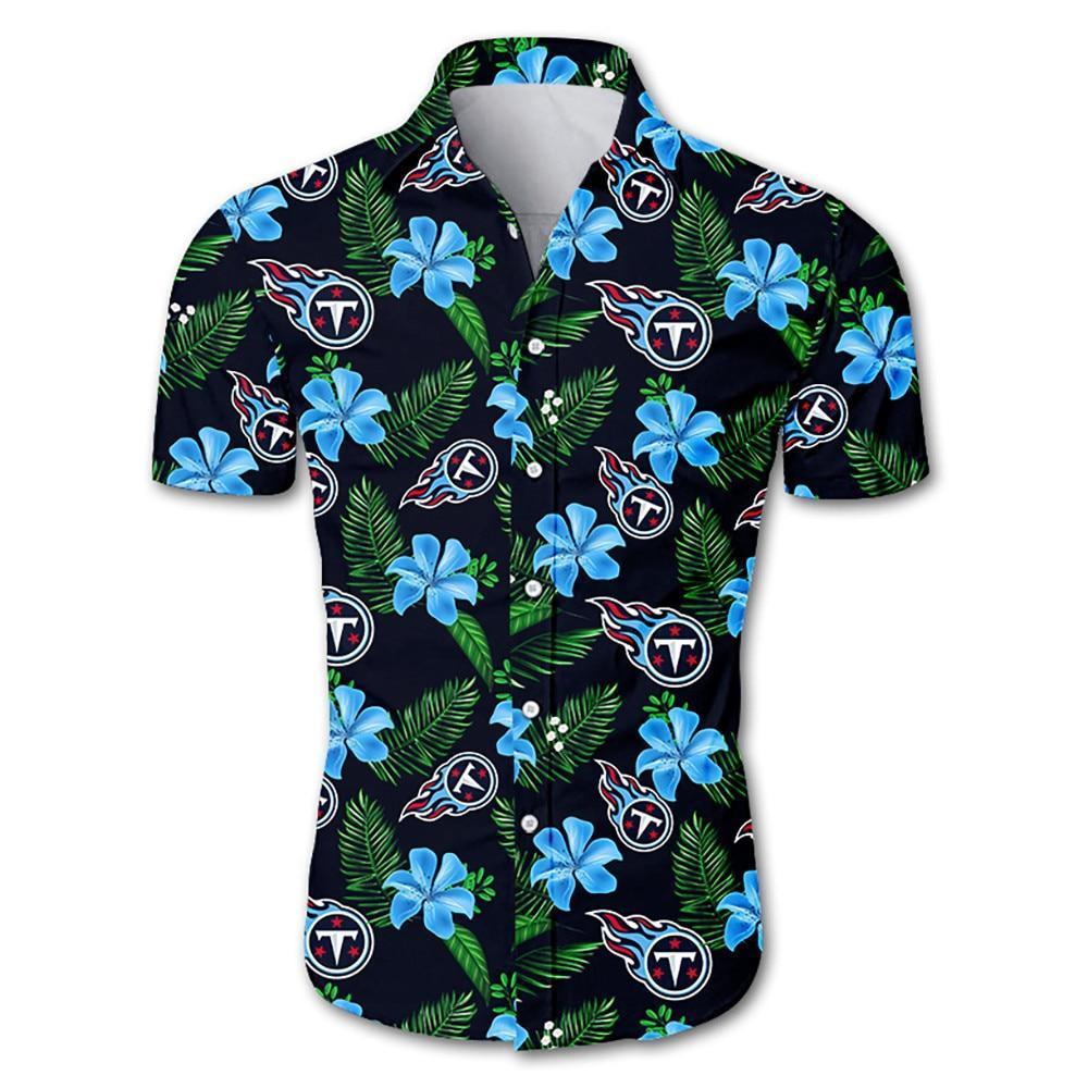 Tennessee Titans Hawaiian Shirt Floral