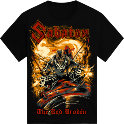 The Red Broden Sabaton Black T shirt 3D