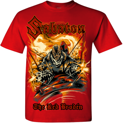The Red Broden Sabaton Red T shirt 3D