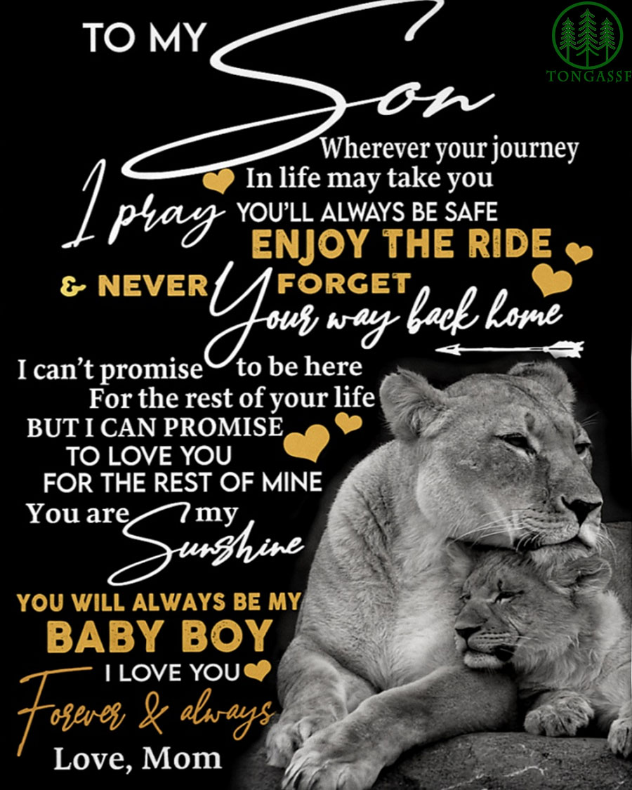 to my son I pray you will always be safe fleece blanket