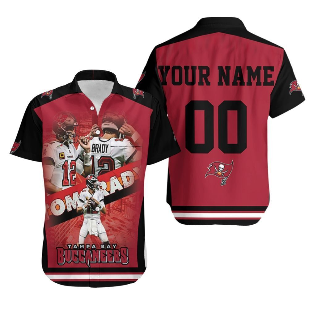 Tom Brady 12 Legend Tampa Bay Buccanners For Fans 3d Printed Personalized Hawaiian Shirt