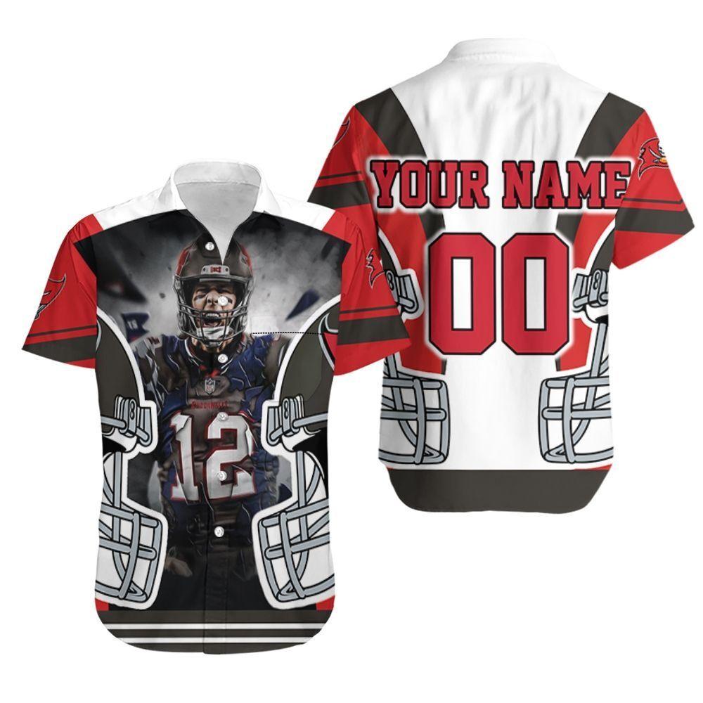 Tom Brady 12 Tampa Bay Buccaneers Nfc South Champions Super Bowl 2021 Personalized Hawaiian Shirt