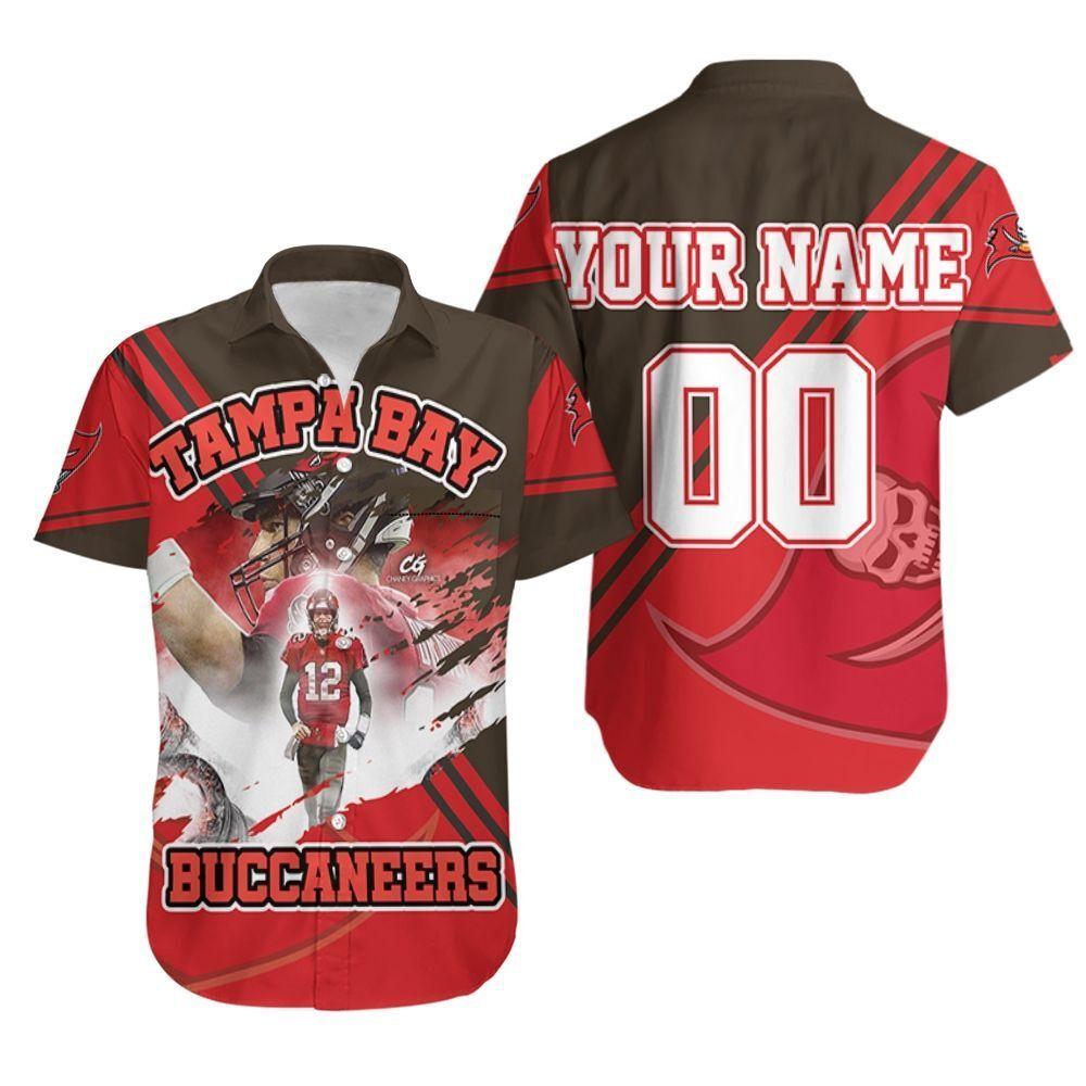 Tom Brady Tampa Bay Buccaneers Superbowl Champions Personalized Hawaiian Shirt