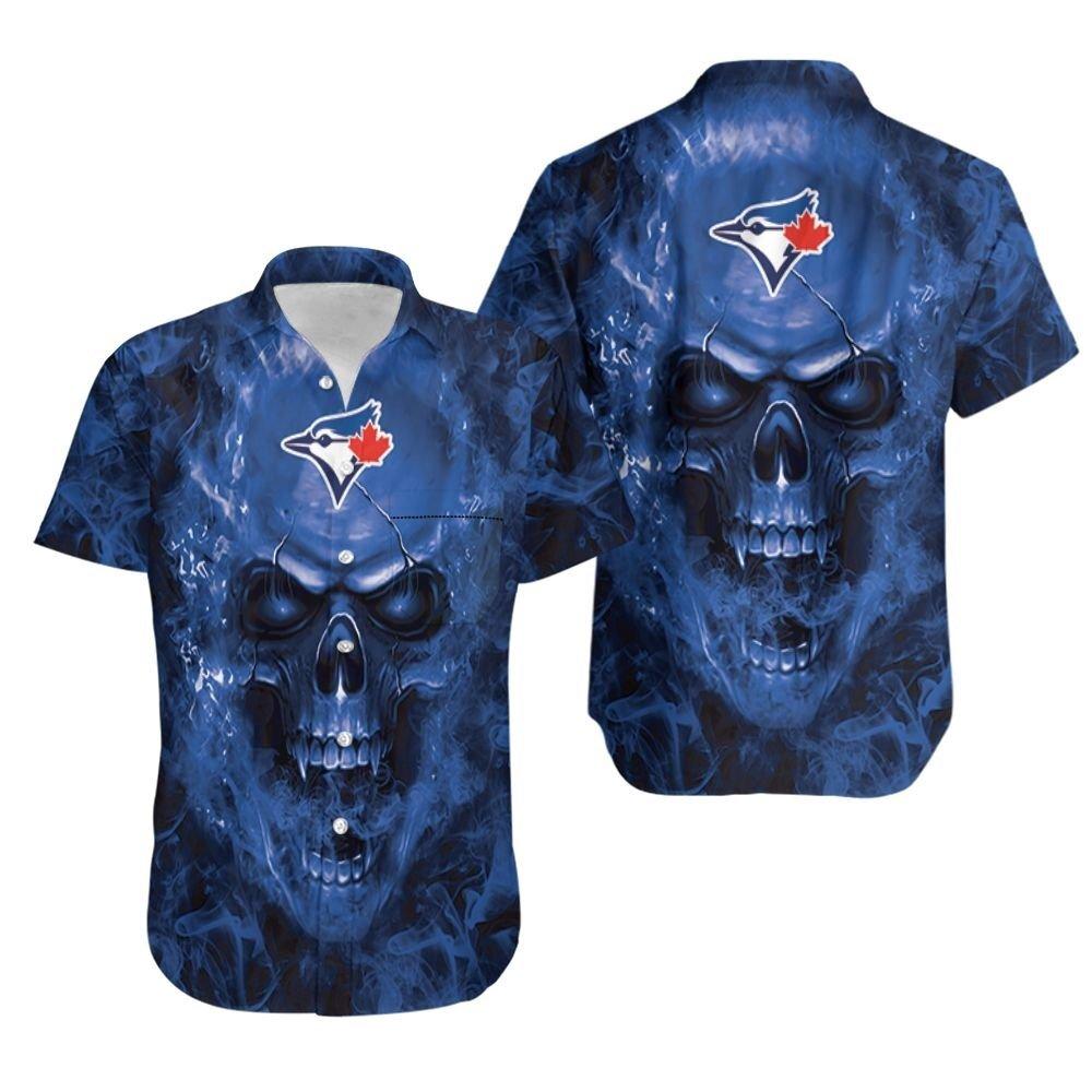 Toronto Blue Jays MLB fan skull Hawaiian Shirt