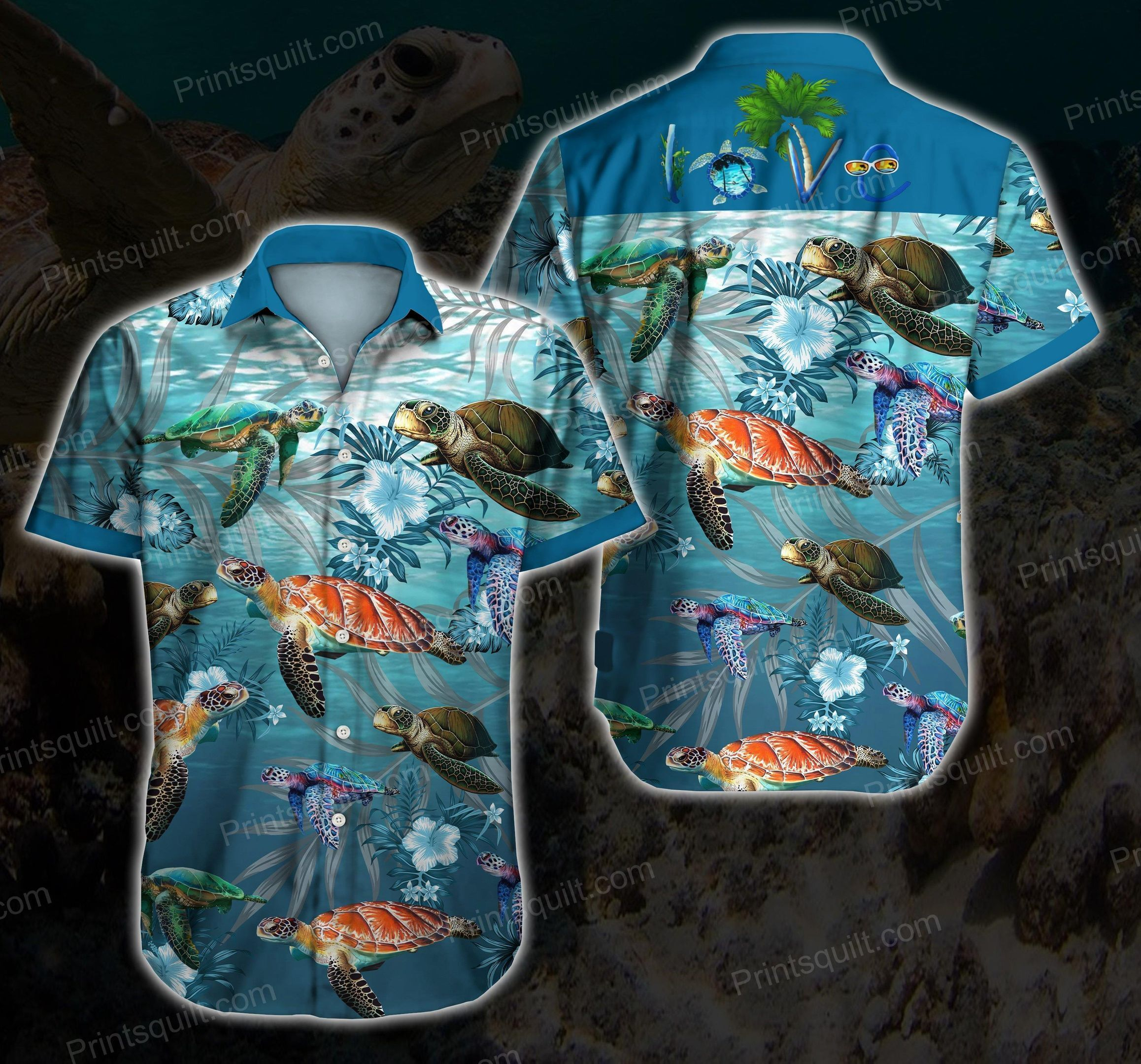 Types of Turtles Lovers 3d Hawaii Shirt