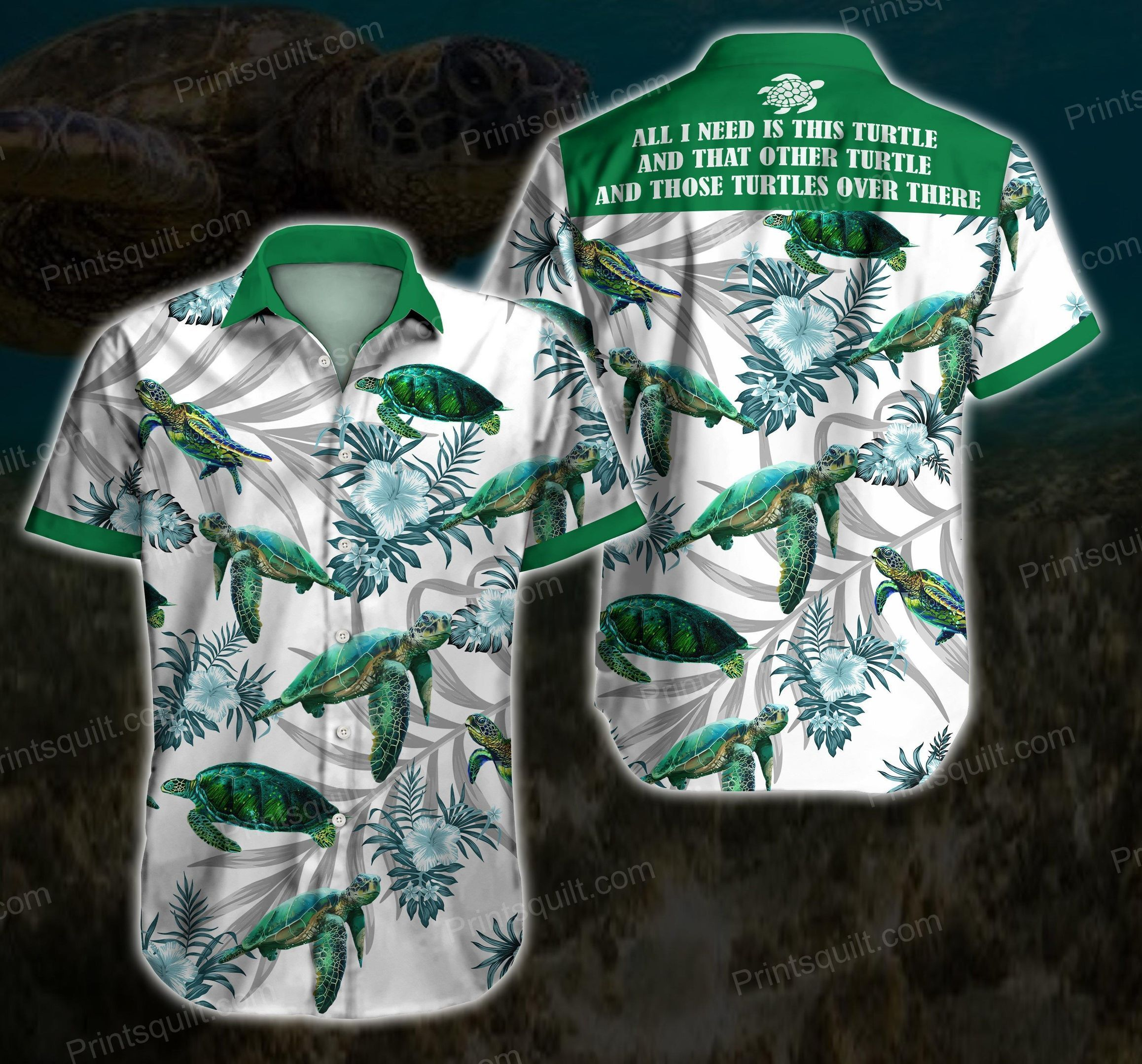 Turtles Lovers Over there Colorfull Hawaii Shirt
