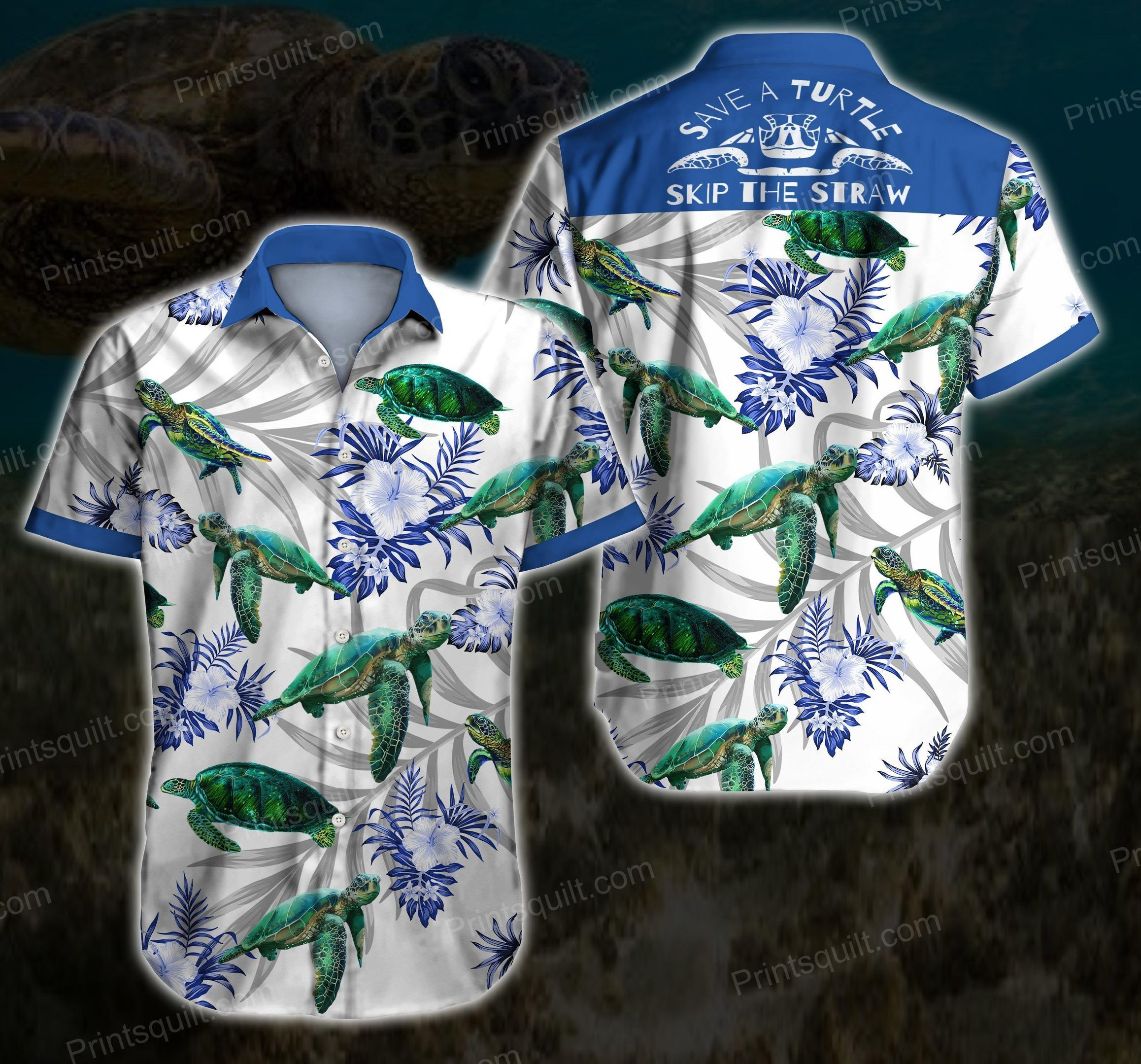 Save Turtles Skip the straw Lovers Hawaii Shirt