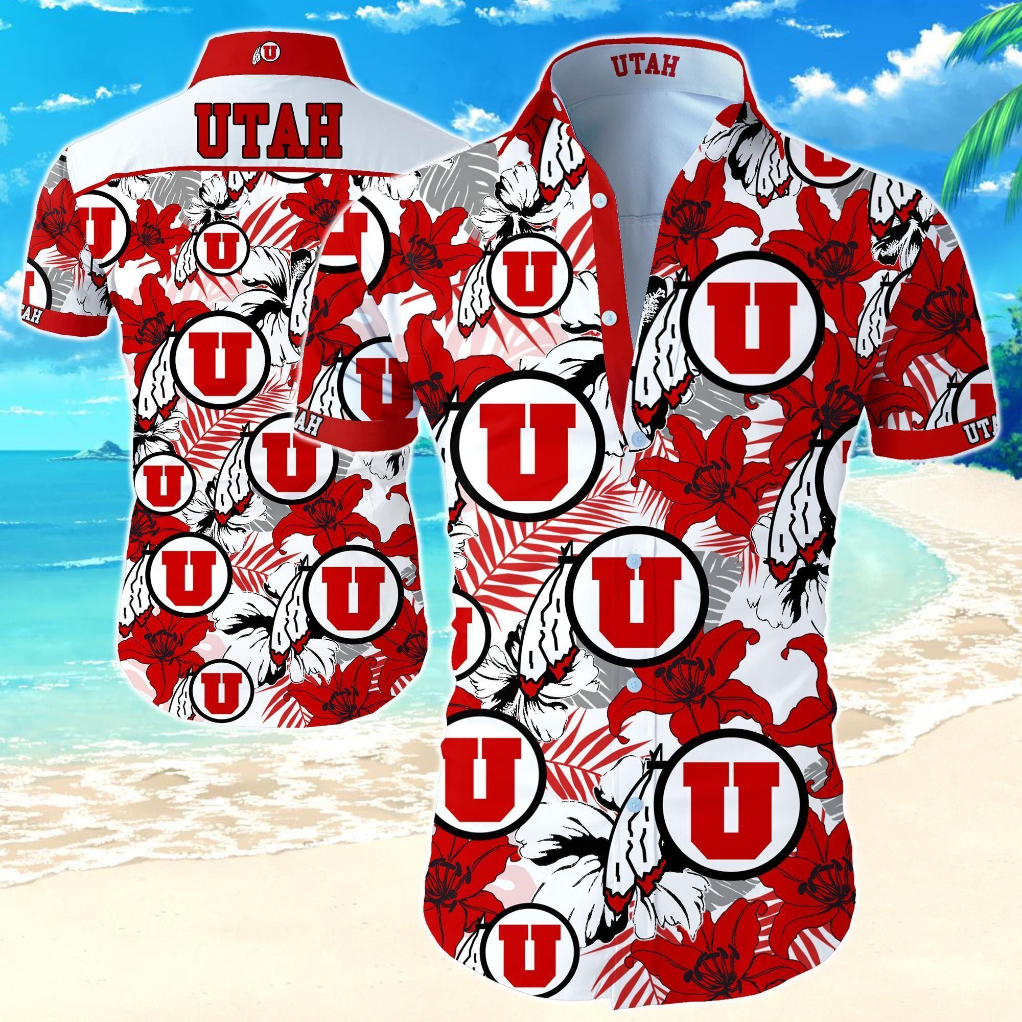Utah Utes Football Hawaiian Shirt