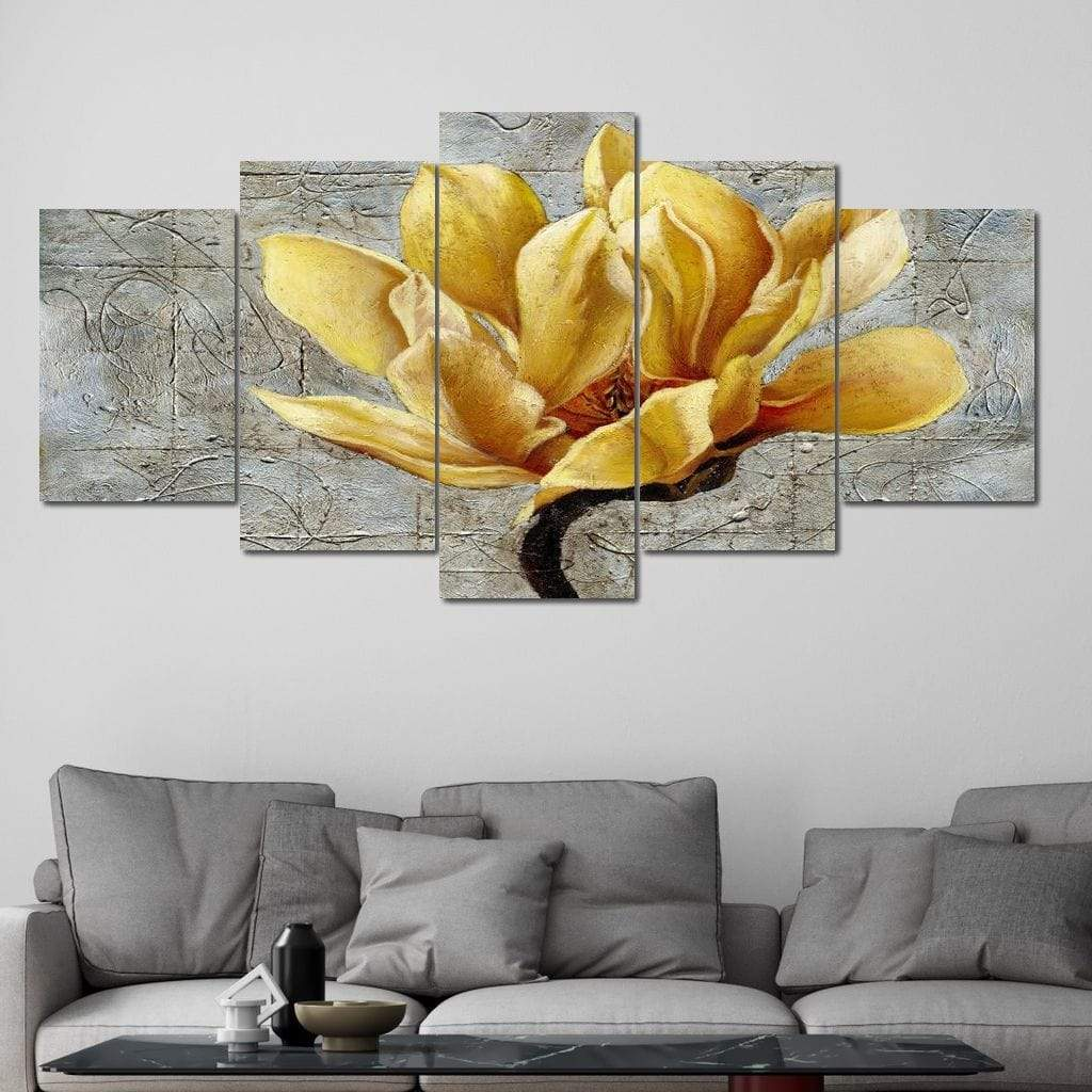 Flower of Life 5 panel wall art canvas