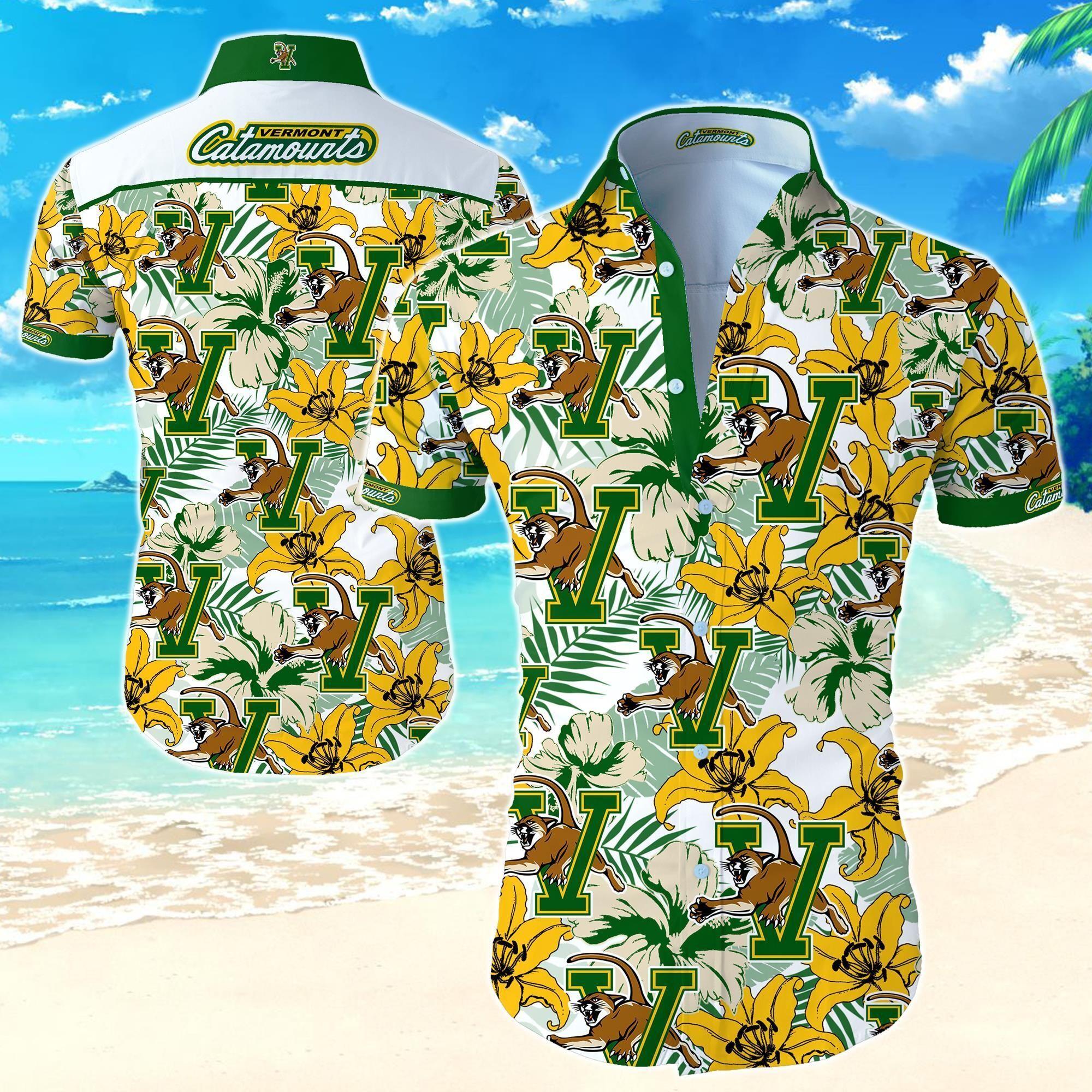 Vermont Catamounts Hawaiian Shirt
