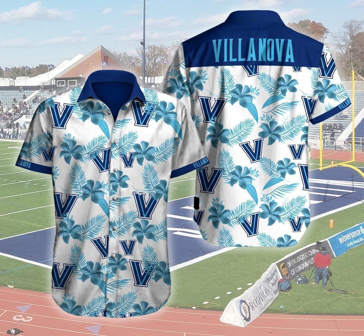 Villanova Wildcats Logo 3d Hawaii Shirt